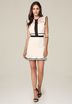 bebe Anna Cap Sleeve Dress