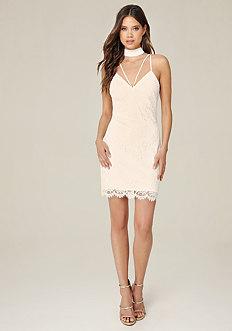 Marina Lace Choker Dress