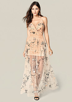 Marielle Embroidered Gown