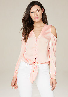 Addey Tie Front Blouse