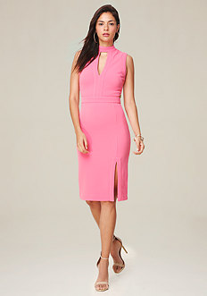 Hanna Front Slit Midi Dress