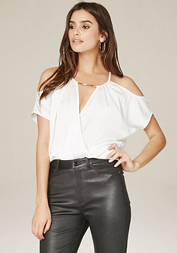 bebe Kimmie Cold Shoulder Top