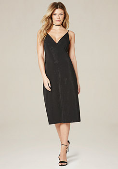 bebe Lara Studded Slip Dress