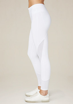 bebe Mesh Trim Leggings