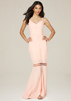 Petite Lace Trim Maxi Dress