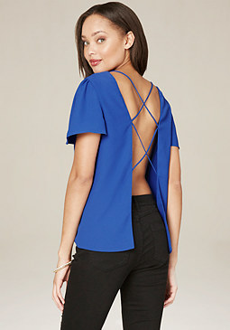 bebe Open Back Boxy Top