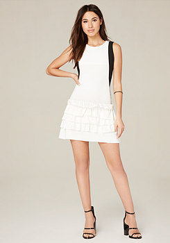 bebe Ruffle Skirt Dress