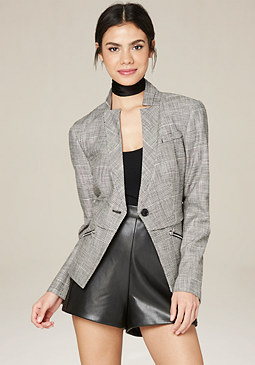 bebe Inverted Collar Blazer