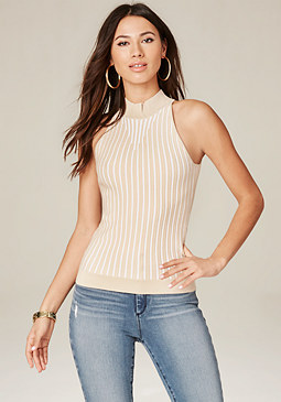 bebe Textured Stripe Sweater