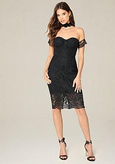 Crochet Bustier Dress