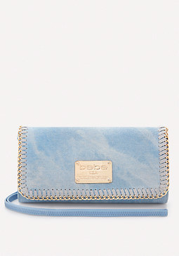 bebe Gianna Denim Wristlet
