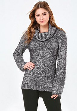 bebe Cowl Neck Sweater Tunic