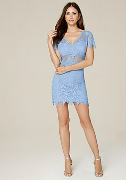 bebe Tory Lace Dress