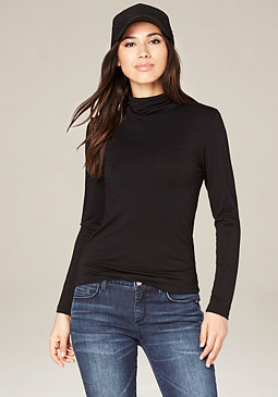 bebe Black Turtleneck Top