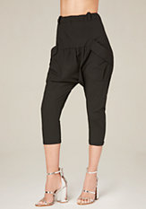 bebe Patch Pocket Drop Pants
