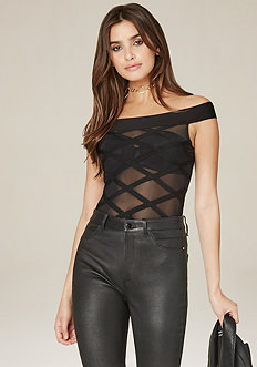 Sheer Off Shoulder Bodysuit