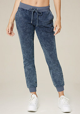 bebe Denim Knit Jogger Pants