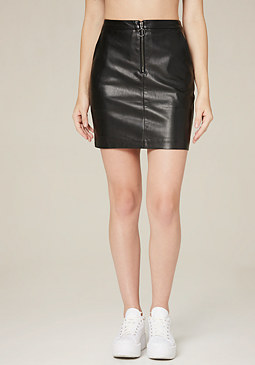 bebe Circle Zip Miniskirt