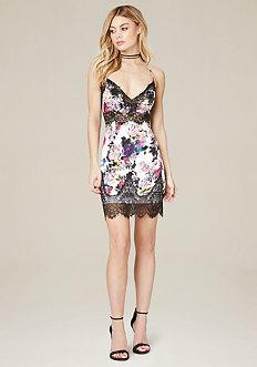 Pia Print Silk Slip Dress