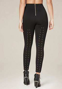 bebe Back Lace Up Leggings