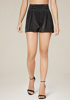 Front Lace Up Shorts