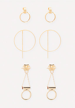 bebe Mini Hoop Earring Set
