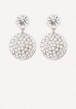 bebe Front-Back Pave Earrings