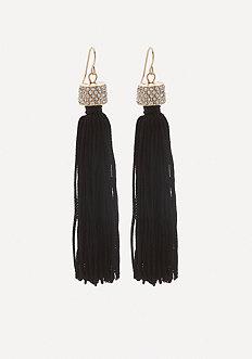 Jewel Top Tassel Earrings