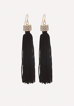 bebe Jewel Top Tassel Earrings
