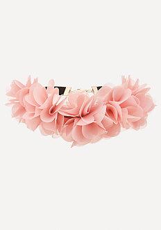 Fabric Flower Choker