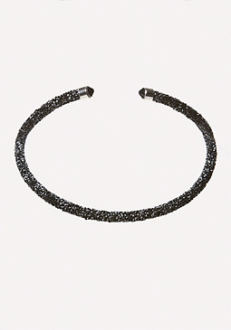 bebe Crystal Collar Necklace