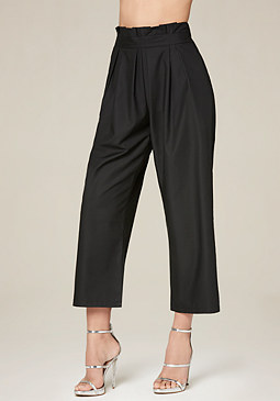 bebe Pleated Crop Pants
