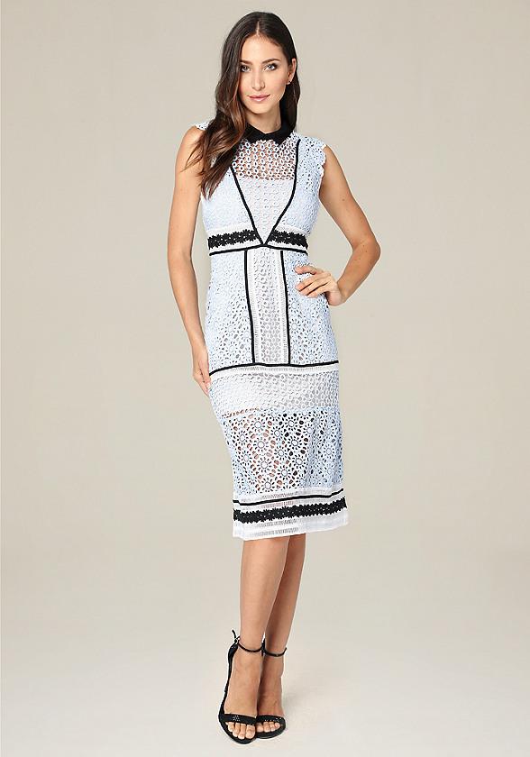 Collared A-Line Midi Dress