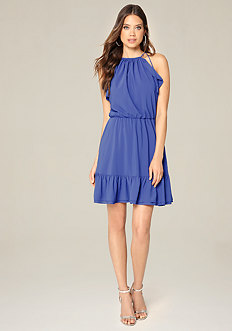Blouson Halter Look Dress