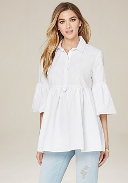bebe Bell Sleeve Shirt