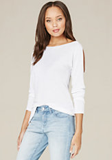 bebe Long Sleeve Sweater Top