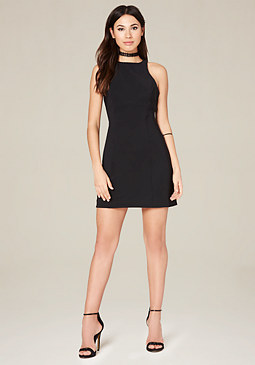 Bonded Scuba Mini Dress at bebe