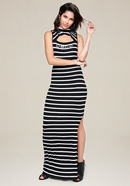 bebe Logo Penelope Maxi Dress