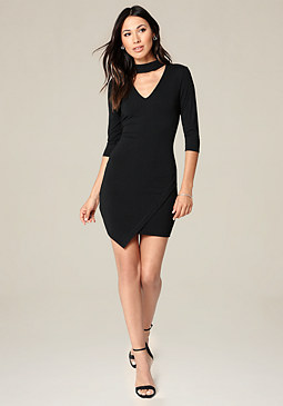 bebe Ebonee Faux Wrap Dress