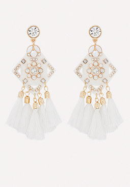 bebe Tassel Statement Earrings