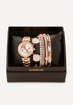 bebe Watch & Mixed Bracelet Set