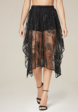 bebe Lace Shorts Skirt