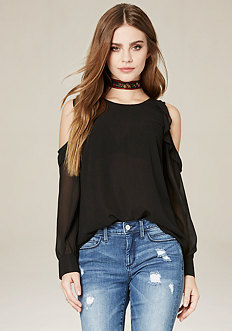 Ruffled Georgette Top