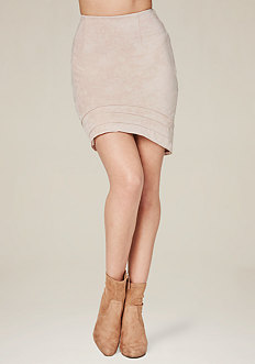Faux Suede Miniskirt
