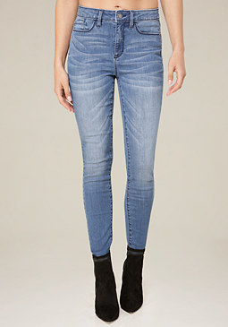 bebe Clean Wash Hourglass Jeans