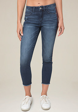 bebe Striped Heartbreaker Jeans