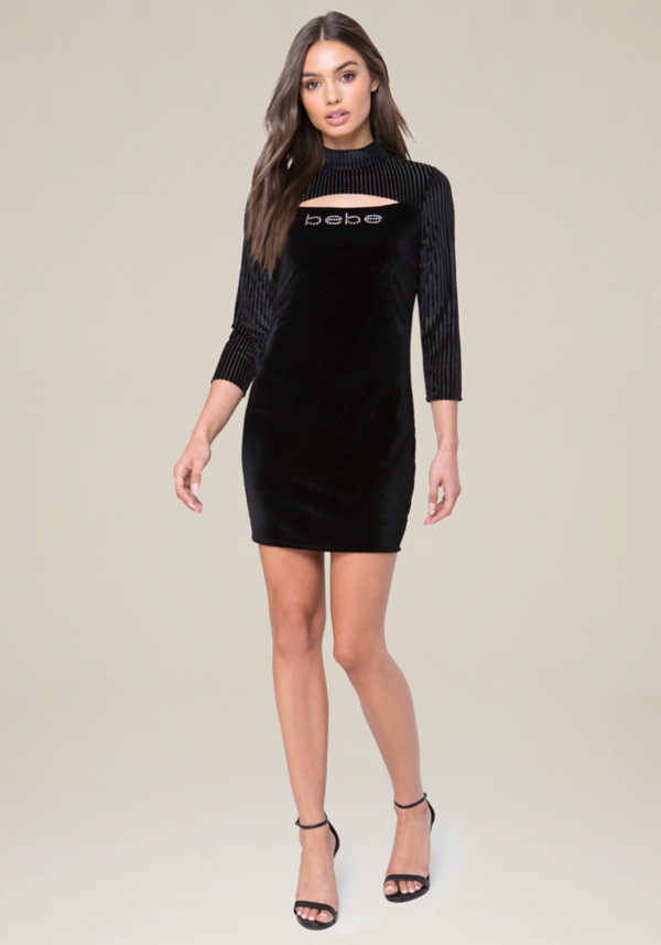Logo Velvet Dress at bebe in Sherman Oaks, CA | Tuggl