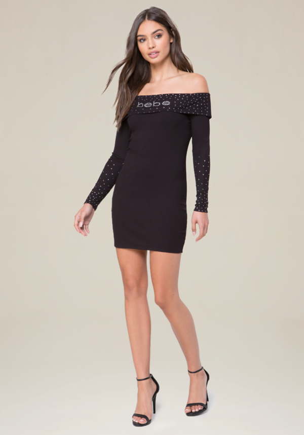 Logo Caelan Dress at bebe in Sherman Oaks, CA | Tuggl