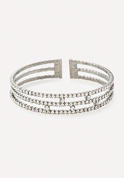 bebe Dainty Triple Band Cuff