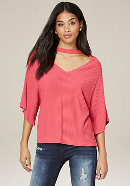 bebe Choker Neck Sweater